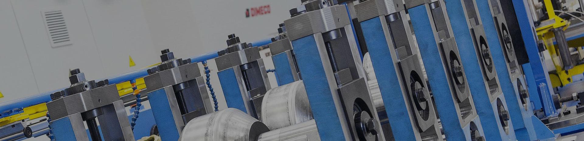 Elementos del funcionamiento de la máquina de conformación por rodillo